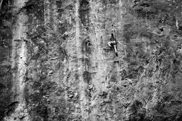 Climbing in ulassai with Nannai climbing family