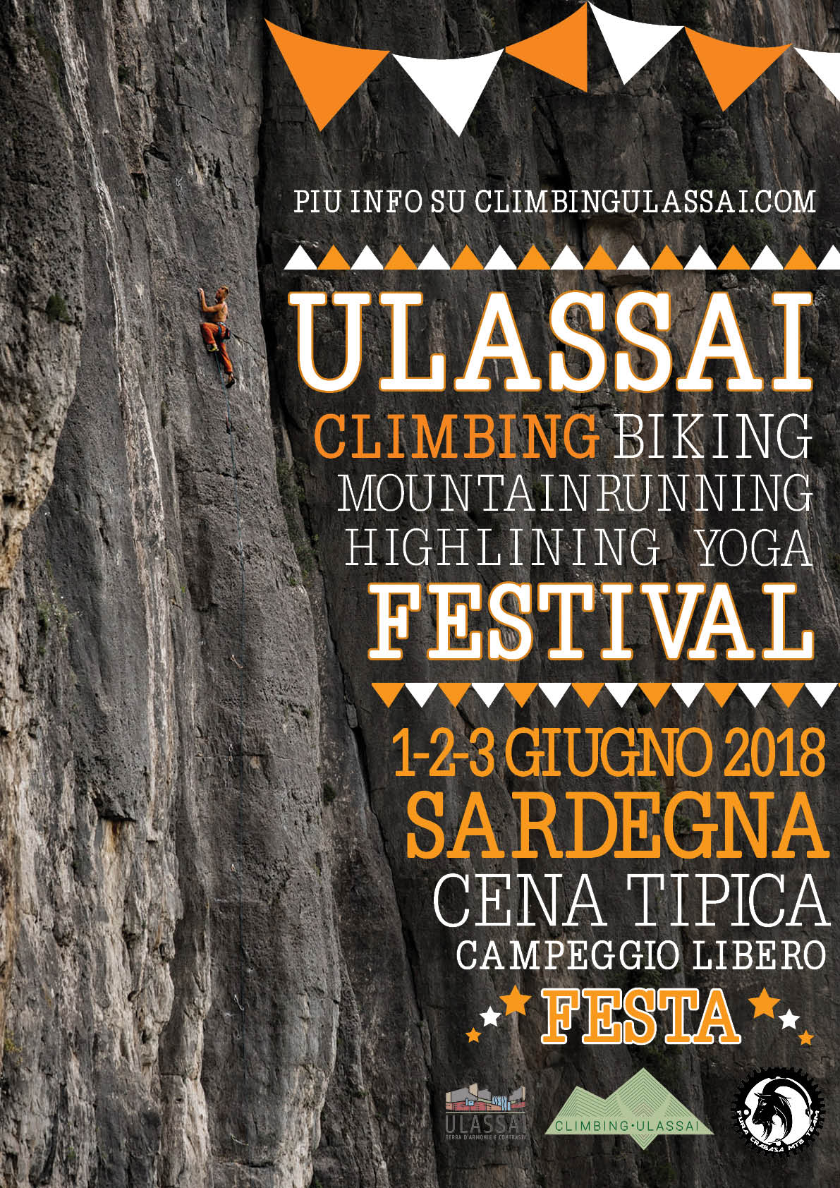 A poster of the festival of ulassai