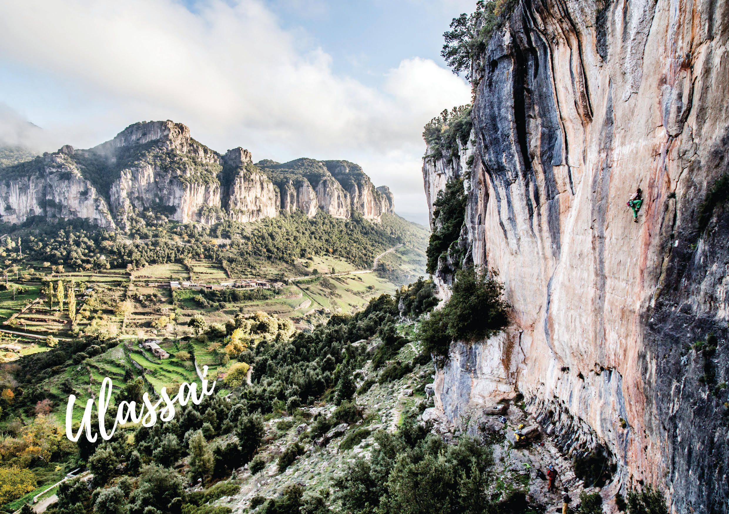 climbing guidebook of ulassai